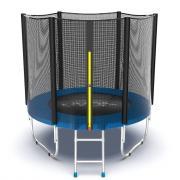 EVO JUMP External 6ft (Blue) Батут с внешней сеткой и лестницей, диаметр 6ft (синий)