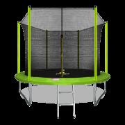 ARLAND Батут 10FT с внутренней страховочной сеткой и лестницей (Light green)