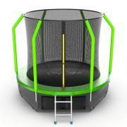 Батут EVO Jump Cosmo 8ft с внутренней сеткой, лестницей и нижней сетью