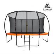 Батут DFC KENGOO II 10ft внутр.сетка, лестница, оранж/черн (305см), 10FT-BAS-BO