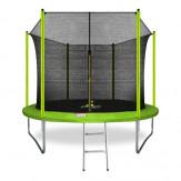 ARLAND Батут 10FT зеленый с внутренней страховочной сеткой и лестницей