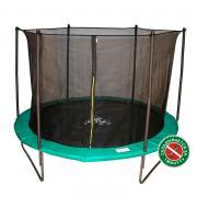 Батут DFC Jump с сеткой 183 см, green
