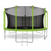 ARLAND Батут 16FT зеленый с внутренней страховочной сеткой и лестницей
