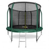 ARLAND Батут премиум 10FT с внутренней страховочной сеткой и лестницей (Dark green)