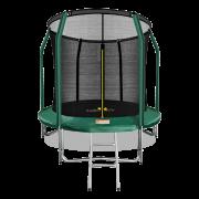 ARLAND Батут премиум 8FT с внутренней страховочной сеткой и лестницей (Dark green) (ТЕМНО-ЗЕЛЕНЫЙ)