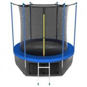 Каркасный батут EVO Jump 10FT Internal с нижней сетью 305х305х254 см sky
