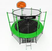 Батут с баскетбольным кольцом I-JUMP BASKET 10ft зеленый
