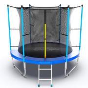 Батут EVO Jump Internal 8ft с внутренней сеткой и лестницей (зеленый/синий).