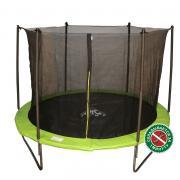 Батут DFC JUMP 8 ft складной, с сеткой apple green