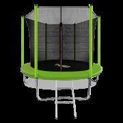 ARLAND Батут 8FT с внутренней страховочной сеткой и лестницей (Light green)