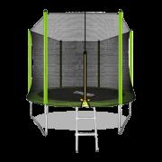 ARLAND Батут 10FT с внешней страховочной сеткой и лестницей (Light green)