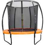 Батут DFC KENGOO II 5ft внутр.сетка, оранж/черн (152см) БЕЗ ЛЕСТНИЦЫ