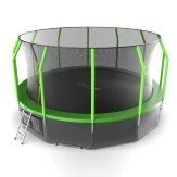 Батут EVO JUMP Cosmo 16 FT (4.88 м) зеленый + нижняя сеть