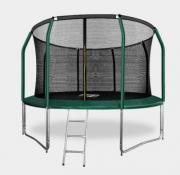 ARLAND ПРЕМИУМ Батут 12FT с внутренней страховочной сеткой и лестницей (Dark green)
