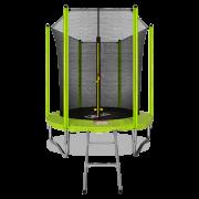 Батут с внутренней сеткой и лестницей ARLAND 6FT (Light Green)
