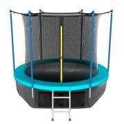 Каркасный батут EVO Jump 8FT Internal с нижней сетью 244х244х210 см wave