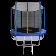 Батут с внутренней страховочной сеткой и лестницей ARLAND 8FT (Blue)