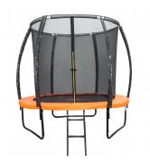 Батут DFC KENGOO 6 футов (183 см) внутр.сетка, лестница, оранж/черн 6FT-TR-E-BAS