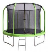 Батут Bondy Sport BS12FTGR с сеткой и лестницей 366 см, green