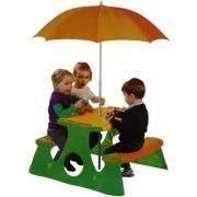 Стол-пикник Paradiso с двумя скамьями и зонтом