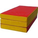 Мат КМС № 4 (100x150x10см) красный/жёлтый складной