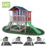 Игровой дом Exit Toys с горкой 550 красный