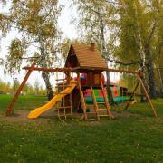 Игровая площадка New Sunrise Зарница с деревянной крышей и рукоходом