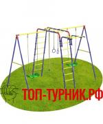 """Уличный детский спортивный комплекс Топ-турник """"Хит"""" с двумя качелями"""