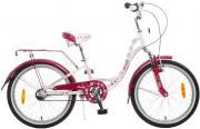 """Велосипед детский Novatrack """"Butterfly"""", 20"""", темно-розовый, белый"""