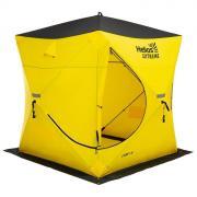 Палатка зимняя «ТОНАР» Helios EXTREME V2.0 куб (широкий вход), 1,8 x 1,8 м, цвет жёлтый/чёрный