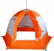 Палатка для зимней рыбалки Зонт Пингвин 4 (1-сл) бело-оранжевая