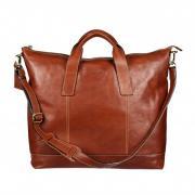 Мужская кожаная дорожная сумка Gianni Conti 912074 tan