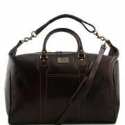 Сумка мужская дорожная кожаная Tuscany Leather, Amsterdam TL1049 dark brown