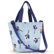 Сумка shopper xs leaves blue Reisenthel