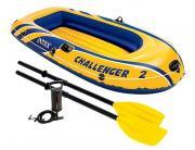 INTEX Надувная лодка Challenger-2 [68367]