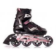 Роликовые коньки женские BLACKWHEELS Race. Цвет: черный/розовый, размер 37
