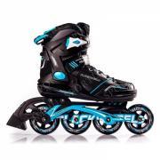 Роликовые коньки женские BLACKWHEELS Slalom. Цвет: черный/синий, размер 37