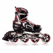 Роликовые коньки BLACKWHEELS FLEX Red Цвет: черный/фиолетовый, размер S 31-34
