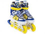 Коньки START UP Style р.L 39-42 Blue-Yellow