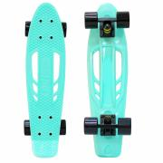 "Скейтборд Y-SCOO Skateboard Fishbone с ручкой 22"" винил 56,6x15 ссумкой 405 Черный"