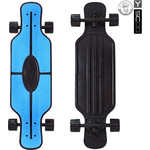 "Скейтборд RT 408-B Longboard Shark TIR 31"" пластик 79х22 с сумкой BLUE/black"