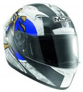 Шлем MDS M13 - Ronin White/Blue (M)