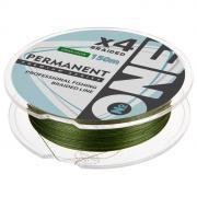 Плетёная леска №ONE PERMANENT Х4-green, 150 м, d=0,14 мм