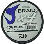 Леска рыболовная Daiwa плетеная J-Braid X4 135м 0,29мм зеленая
