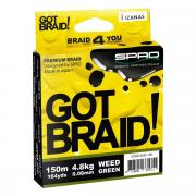 SPRO (Нидерланды) Плетенка SPRO GOT BRAID! (Green 0,22мм 300м 15,5кг зеленая N/5300/222)