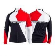 Одежда, обувь, зимнее снаряжение Джерси FORMAT длинный рукав, черный- красный- белый, M, RJRSFMTM0002