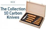 Коллекционный набор ножей Opinel Carbon 10 шт