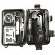 Набор инструментов SOS тревожного рюкзака (Черный)