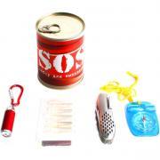 Набор для выживания в банке SOS №1 (4 предмета)