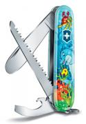 Нож перочинный My First Victorinox Dolphin Edition (0.2373.E1) 84мм 9функций голубой / рисунок карт.коробка